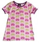 ON SALE Maxomorra Organic A-line top - Pink Frog