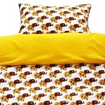 Cot linen - Brown elephant