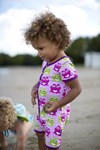 ON SALE Maxomorra Organic s/s rompersuit - Pink Frog