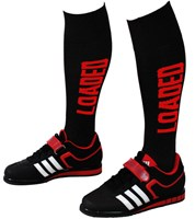 Deadlift Socks: Black/Red