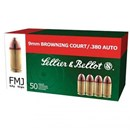 SELLIER & BELLOT 380 AUTO - FMJ - 92 GR - 50 Rds