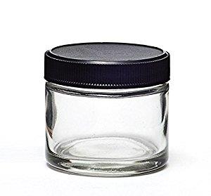 2oz Glass Screw Top Jars w Black or White Lids GreenDrakoncom
