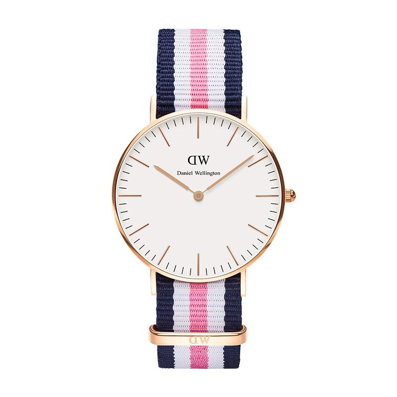 daniel wellington classic southampton 36mm rose gold navy pink white nato strap pens de luxe. Black Bedroom Furniture Sets. Home Design Ideas