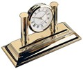 El-Casco Gold Plated Desk Clock