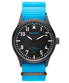 POP-PILOT® Neon Nights 42mm<br/>DXB Edition Neon Blue Strap Watch