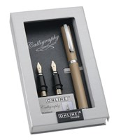 ONLINEVision Champagne<br/>Aluminium Calligraphy Set
