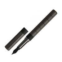 Hugo Boss Barrel Series<br/>Grid Gunmetal Fountain Pen