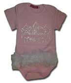 Pink Princess Tutu Body suit / Romper - Baby Girls Clothes
