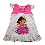 Dora's Field of Polka Dots Nickelodeon Licensed Dress - Girls Dress