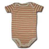Oranges for Everyone Stripes Adam & Eve Baby Wear Tag Free Romper - Baby Boys & Girls Clothes