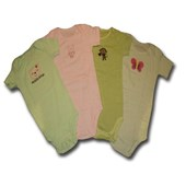 4 Rompers Gift Pack 'My Kitty and Pals' Adam & Eve Baby Wear Tag Free Romper - Baby Girls Clothes