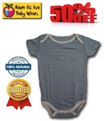 Blue Lines Adam & Eve Baby Wear Tag Free Romper - Baby Boys Clothes