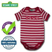 Elmo Red Stripes - 123 Sesame Street® Body Suit Romper - Licensed & Genuine