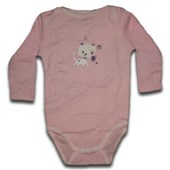 Pinky Kitty Long Sleeve Romper/Onesie - Baby Boys & Girls Clothes