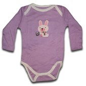 Purple Bunny Long Sleeve Romper/Onesie - Baby Boys & Girls Clothes