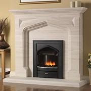 PureGlow Harvington Limestone Fireplace with Electric Fire