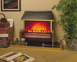 Dimplex Lymington freestanding radiant bar electric fire with Optiflame® coal effect