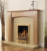 PureGlow Stretton Wooden Fireplace package with Gas Fire