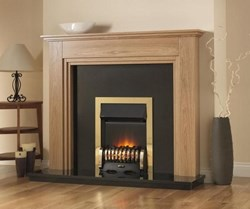 PureGlow Whitton Fireplace with Gas Fire