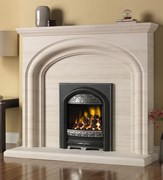 PureGlow Wychbury Limestone Portugese Limestone Package with Gas Fire
