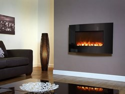 Celsi Electriflame Curved Black Glass