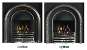 PureGlow Wenlock Agean Limestone Fireplace Package with Gas Fire