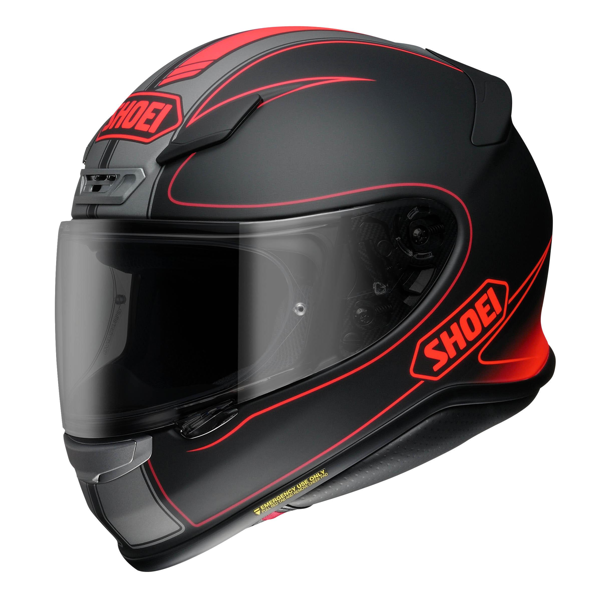 shoei nxr flagger helmet tc 1 red online motorcycle accessories australia scm. Black Bedroom Furniture Sets. Home Design Ideas