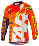 Alpinestars 2018 Youth Racer Braap Jersey - Orange Fluo/Dark Blue/White