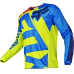 FOX 2017 180 NIRV YOUTH JERSEY - YELLOW/BLUE