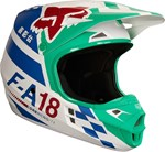 (CLEARANCE) FOX 2018 V1 SAYAK ECE HELMET - GREEN