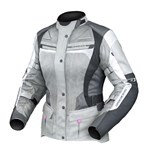 DRIRIDER APEX 4 AIRFLOW LADIES TEXTILE JACKET - WHITE/GREY