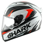 (SHARK CLEARANCE SALE) - Shark Race-R Pro Kimbo Helmet - White/Orange