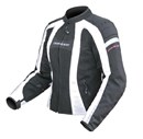 DRIRIDER AIRSTREAM LADIES TEXTILE JACKET - BLACK/WHITE