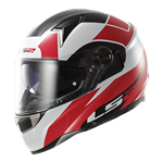 (CLEARANCE) - LS2 FT2 FF396 DART Helmet - Thunderbolt White Red