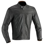 2018 IXON STROKER PERFORATED LEATHER JACKET BROWN