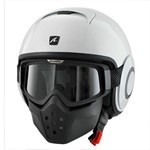 (SHARK CLEARANCE) - Shark Raw Blank Helmet - White