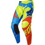 (CLEARANCE) FOX 2017 180 NIRV YOUTH PANTS - YELLOW/BLUE