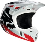 FOX 2016 V2 RACE HELMET - RED/WHITE