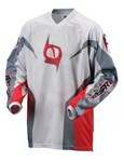 (CLEARANCE SALE) - MSR M9 Axxis Men's MX Jersey - Red Grey - only $10