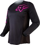 FOX 2018 WOMENS BLACKOUT JERSEY - BLACK/PINK