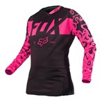 (CLEARANCE SALE) - FOX 2016 WOMENS 180 JERSEY - BLACK/PINK