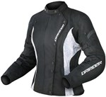 (CLEARANCE) Dririder Vivid Ladies Textile Jacket - Black / White