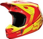 (CLEARANCE SALE) - FOX 2015 V2 IMPERIAL MOTOCROSS HELMET - RED/YELLOW