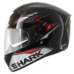 (SHARK CLEARANCE) - Shark Skwal Matador Helmet - Black/Red/Silver