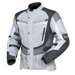 (CLEARANCE) DRIRIDER APEX 4 WATERPROOF TEXTILE JACKET - GREY/WHITE/BLACK