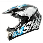 (CLEARANCE SALE) - Shark SX2 Freak MX Helmet - Black/White/Blue