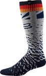 FOX 2018 WOMENS MX SOCKS - GREY/ORANGE - ONE SIZE
