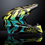 M2R X4.5 DIVISION ECE HELMET - Caleb Grothues 'GEN-Z' Replica PC-3 YELLOW