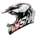 (CLEARANCE SALE) - Shark SX2 Freak MX Helmet - Black/White/Red