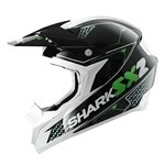 (CLEARANCE SALE) - Shark SX2 Kamaboko MX Helmet - Black/Green